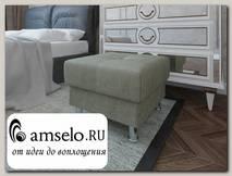 Банкетка quadro Вегас (Велюр grey Asti com 03 (КН)/Велюр grey Asti com 03 (КН))