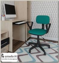 """Кресло """"Арчи"""" (Ткань зелёная/Пластик ) А-Л2"""
