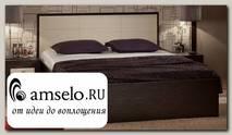 """Кровать 1400 luxe с ортопед.осн-ем """"Вивьен"""" (Венге/Винилкожа Топлёное молоко)"""