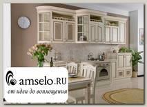 "Кухня 3,98 ""Лючия"" (МДФ) (Крем/Патина) UgSl"