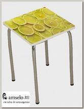 "Табурет ""Дольчетто"" (Металл/МДФ высокоглянц.) (Albico Лимоны)"