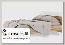 """Кровать 1600 """"Bella"""" (МДФ) (Дуб сонома/Белый глянец) РС-Врс"""