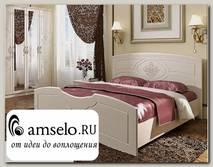 """Кровать 1600 """"Лили"""" (МДФ)(Белый лён)"""