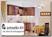 "Кухня угловая 2,73х1,33 левая ""Сальери"" (МДФ) (Орех караваджо)"
