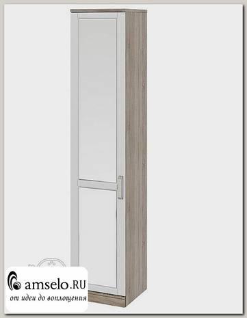 """Пенал 0,45 правый """"Batten"""" (МДФ)(Дуб Сонома Трюфельный/Крем/Зеркало)"""