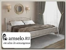 """Кровать 1800 rumba """"Ларго""""(Металл Белый глянец)-MS/Рм"""