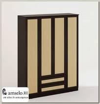 """Шкаф распашной 4-х дверный combinate """"Рики"""" (рамочный)(Венге/Бел.дуб)"""