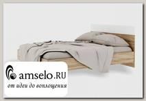 """Кровать 1200 """"Bella"""" (МДФ) (Дуб сонома/Белый глянец) РС-Врс"""
