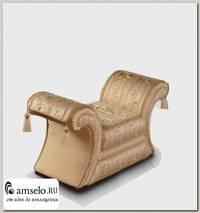 """Банкетка bench mini с 2 накидками Napoleon """"Лувр"""" (Бук) (Жаккард Marguarite de valois fleur blanc/Сутаж/Кисти)"""