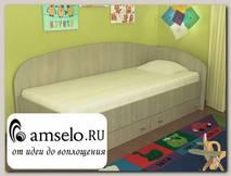 """Кровать с ящиками simple """"Кьюза"""" (Ясень Шимо светлый) VITA-2"""