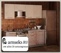 "Кухня 2,1 mosaico""Мона""(МДФ)(Ваниль/Какао)"