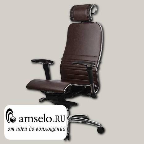 """Кресло quality """"Нэо"""" (Кожа NewLeather Темно-коричневая/Хром)"""