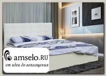 """Кровать 1600 мягкая luxe """"Modern"""" (Иск. кожа/Подъемн. мех.) (Белый)"""
