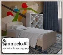 """Кровать 800 adel """"Лаворо"""" (Белёный дуб)"""