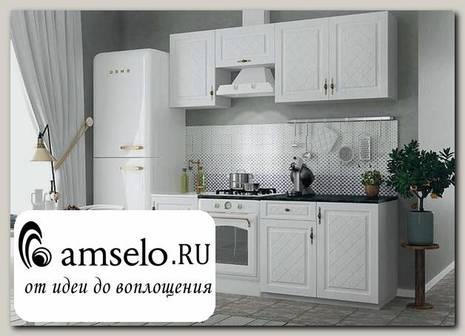 """Кухня 2,1 """"Лорен"""" (МДФ) (Белый)"""