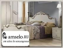 """Кровать 1800 """"Агата"""" (МДФ) (Белый) MrEl"""