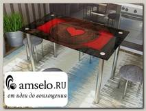 """Стол с фотопечатью 1,2 (table 6) """"Амели"""""""