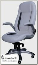 """Кресло """"Мэдисон"""" (Кожзам светлый/Кожзам чёрный/Пластик) А-CX/0176Н06"""