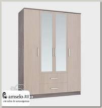 """Шкаф 4-х дверный 1,6м comb """"Лаки"""" (Ясень темный/Ясень светлый)"""