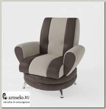 Кресло Torta (Рогожка Alba Cream (AT)/Экокожа Marvel Cocoa (AT))