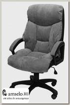 """Кресло comforte """"Максвелл"""" (Вельвет серый/Пластик)"""
