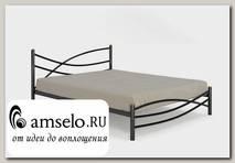 """Кровать 1600 modern """"Ларго""""(Металл Черная шагрень)-MS/Мд"""