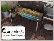 "Стол с фотопечатью 1,2 (nature 9) ""Амели"""