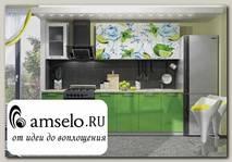 """Кухня 2,0 """"Лакрима"""" (Фотопечать Лайм/Зелёный металлик)"""