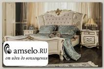 """Кровать 1800 """"Джулия"""" (МДФ) (Крем глянец/Патина/Бархат) UgOl"""