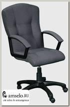 """Кресло """"Бенджамин"""" (Ткань серая треплиров./Пластик) А-Ф4Н"""