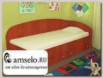 """Кровать с ящиками simple """"Кьюза"""" (Яблоня) VITA/СФ2"""