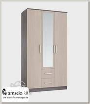 """Шкаф 3-х дверный 1,2м comb """"Лаки"""" (Ясень темный/Ясень светлый)"""